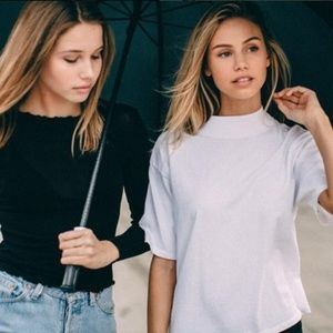 Brandy Melville Jack Turtleneck Top in White